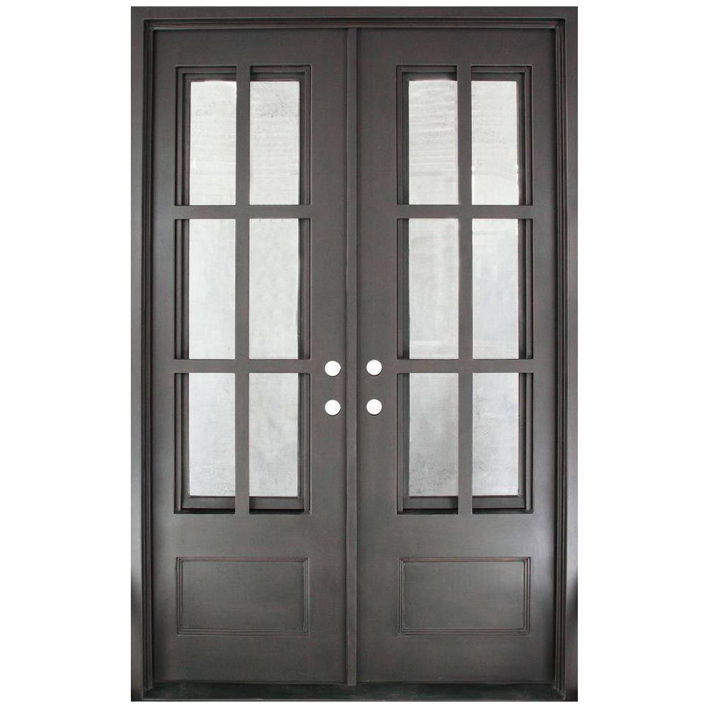 Iron doors unlimited 62 in x 97 5 in craftsman classic for 12 lite door
