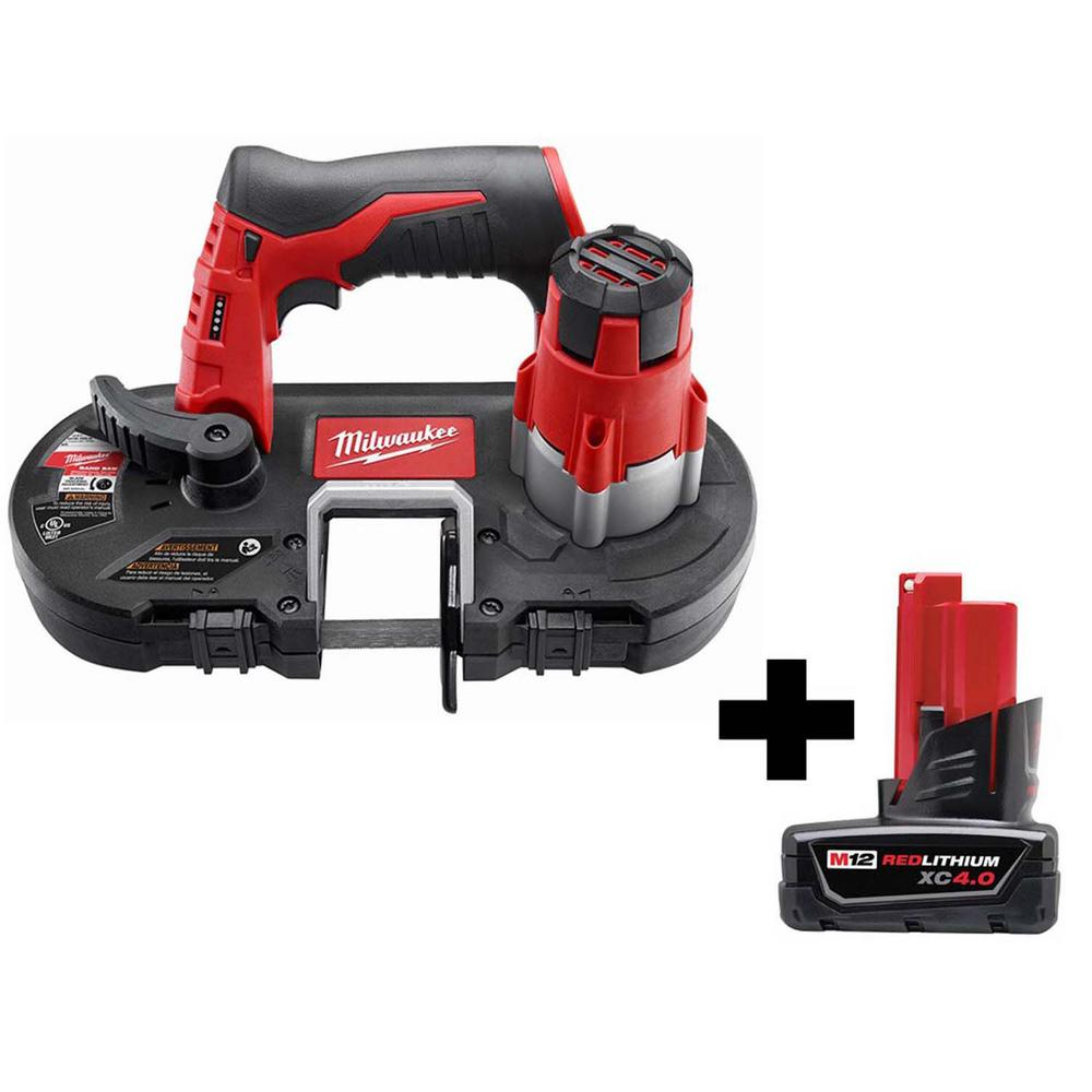 Milwaukee M12 12-Volt Lithium-Ion Cordless Sub-Compact Band Saw with 4.0 Ah M12 Battery