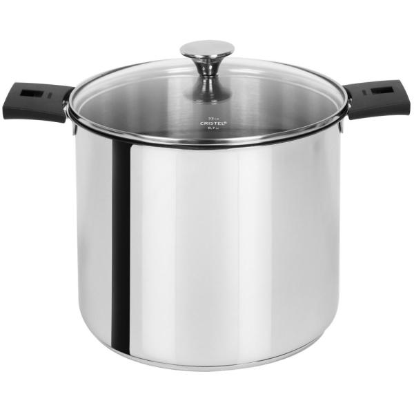Tulipe 7.5 Qt. Stainless Steel Stockpot with Glass Lid