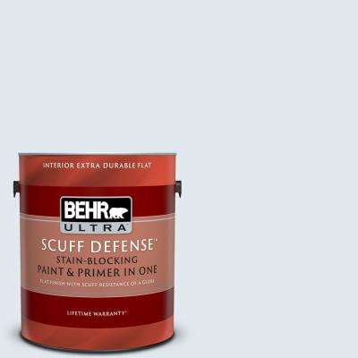 1 gal. #M540-1 Bellflower Blue Extra Durable Flat Interior Paint and Primer in One