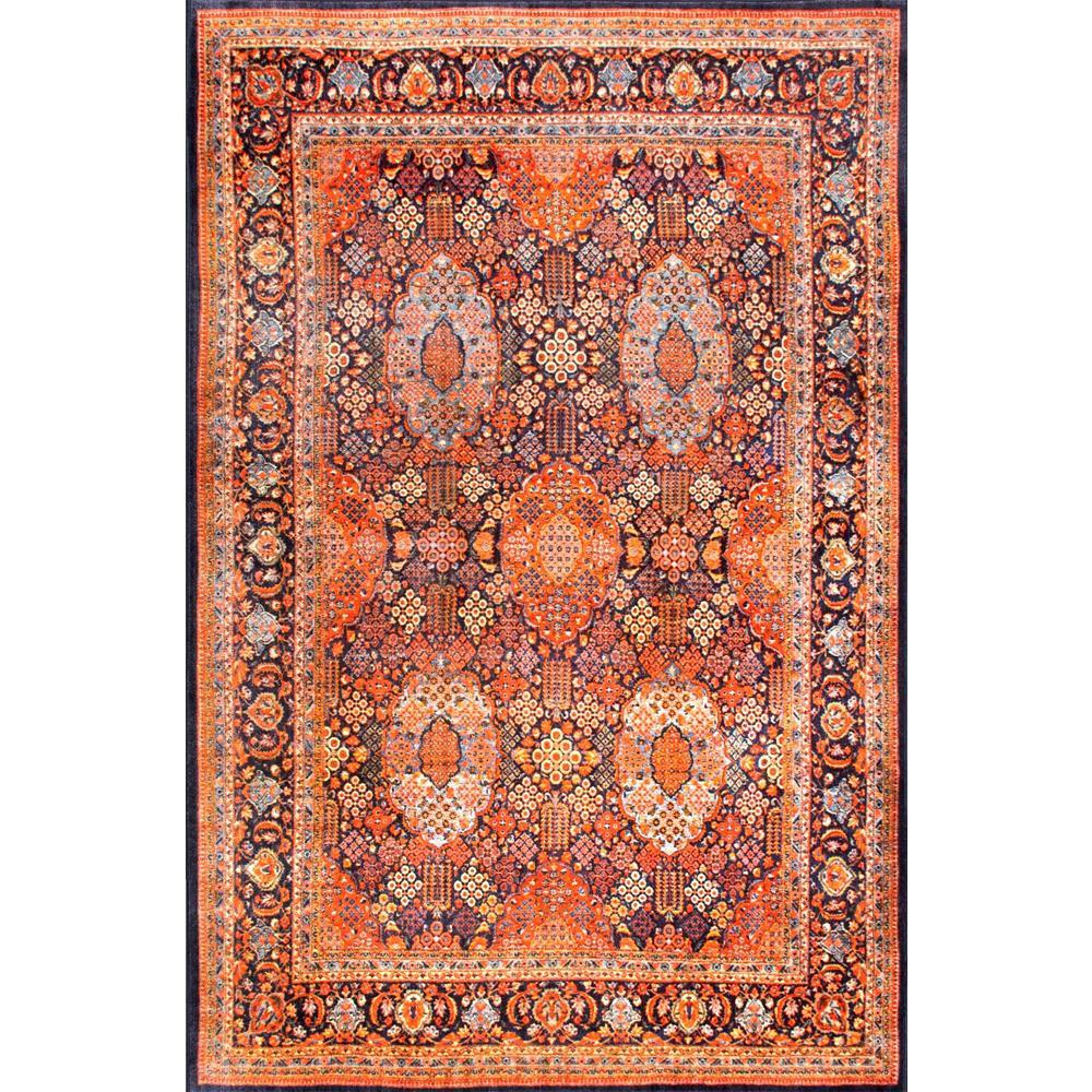 Persian Sultanabad Tiara Orange 8 Ft X 10 Area Rug