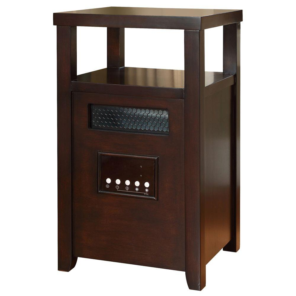 Muskoka 1500-Watt Infrared Heater with Table Top - Burnished Walnut