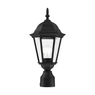 Hamilton 1-Light Textured Black Post Top Lantern