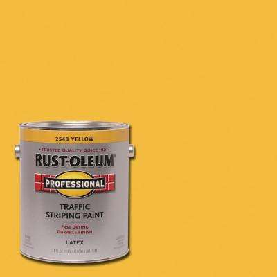 1 gal. Flat Yellow Exterior Traffic Striping Paint