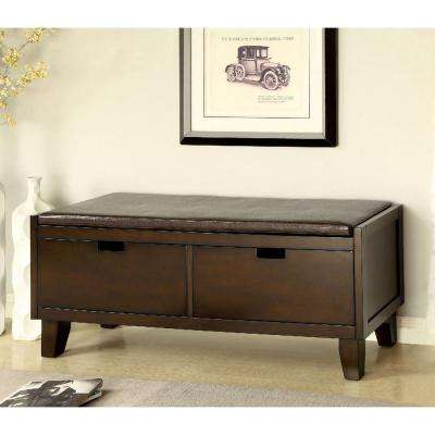 Ellis Walnut Storage Bench