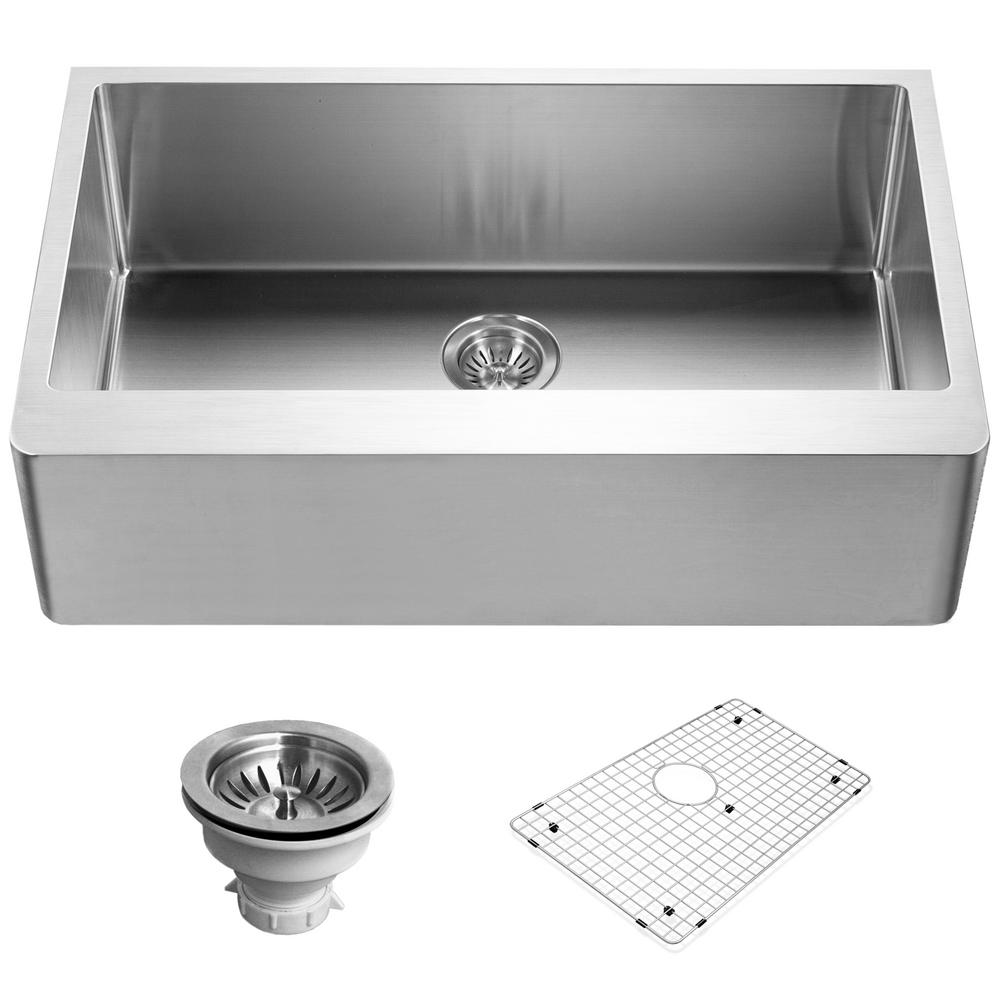houzer epicure series undermount stainless steel 33 in  single bowl kitchen sink satin brushed houzer epicure series undermount stainless steel 33 in  single      rh   homedepot com