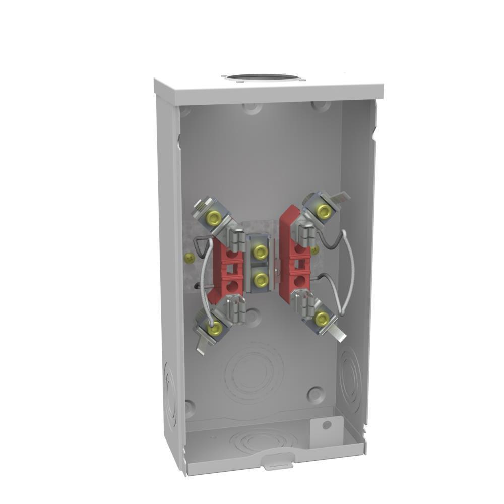 200 Amp 4-Terminal Ringless Overhead Horn Bypass Meter Socket