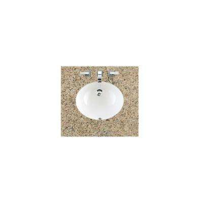 26 in. W Granite Single Basin Vanity Top in Santa Cecilia