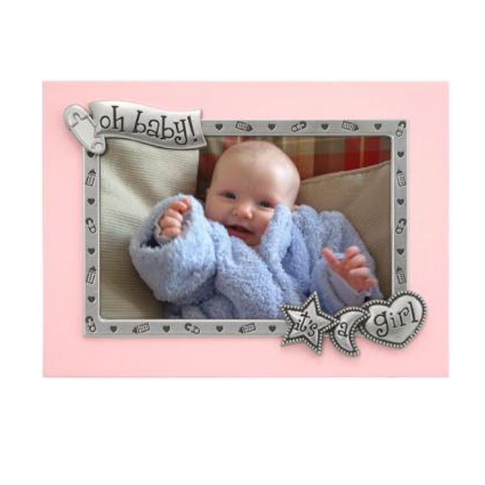 Home Decorators Collection It's a Girl 1-Opeining 6.5 in. x 8.25 in. Pink Picture Frame