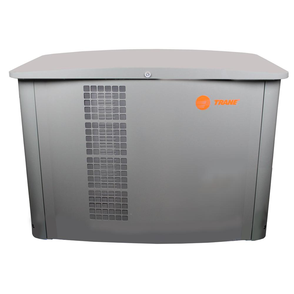 Trane 20,000-Watt 1-Phase LPG/NG Liquid Cooled Whole House Standby  Generator with 200 Amp Automatic Transfer Switch