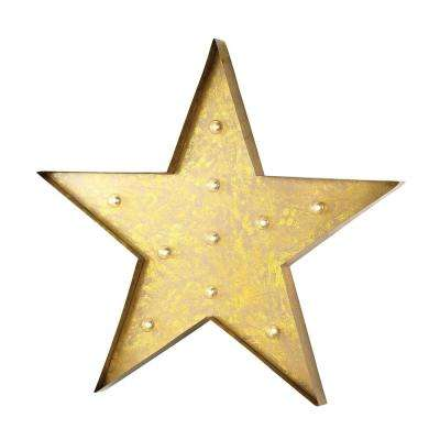 Indoor Star Marquee Lighted Sign