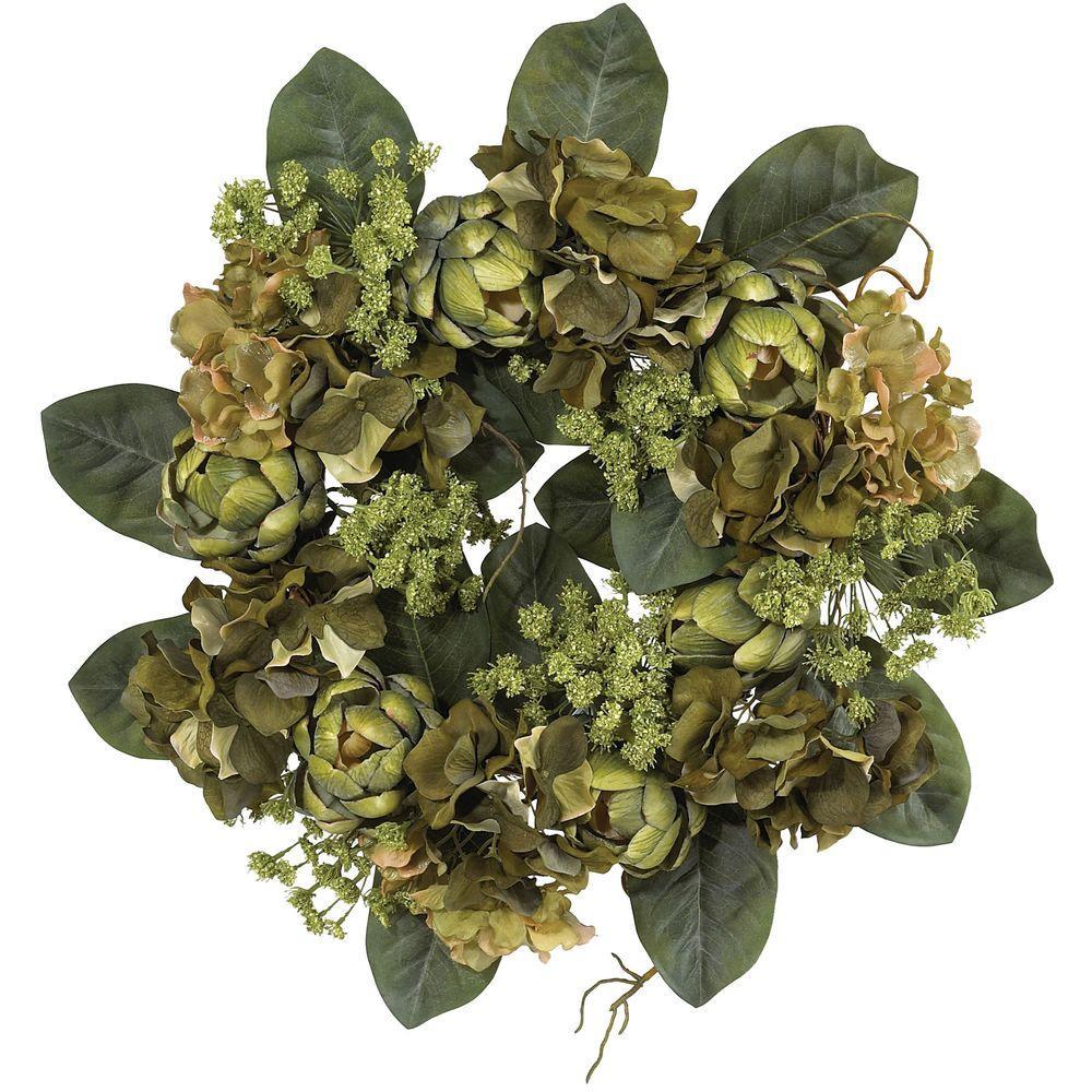Nearly Natural 18 in. Artichoke Wreath