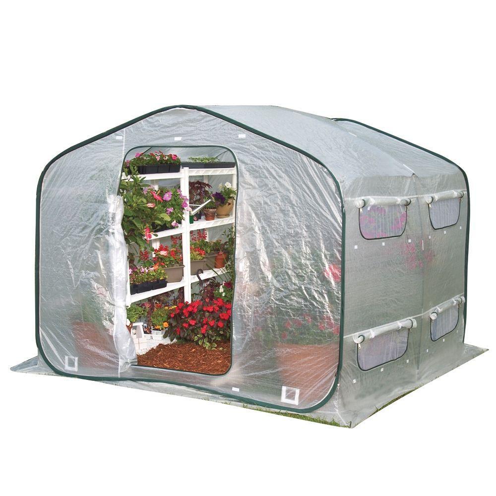 FlowerHouse DreamHouse 6.5 ft. x 8 ft. Deep Pop-Up Greenhouse by FlowerHouse
