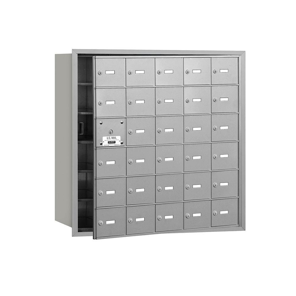 3600 Series Aluminum Private Front Loading 4B Plus Horizontal Mailbox with