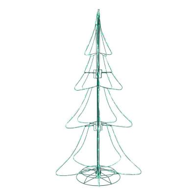 6 ft Green Twinkling Mini LED Tube Silhouette Tree