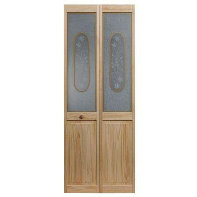Glass Over Panel Victorian Wood Interior Bi-fold Door