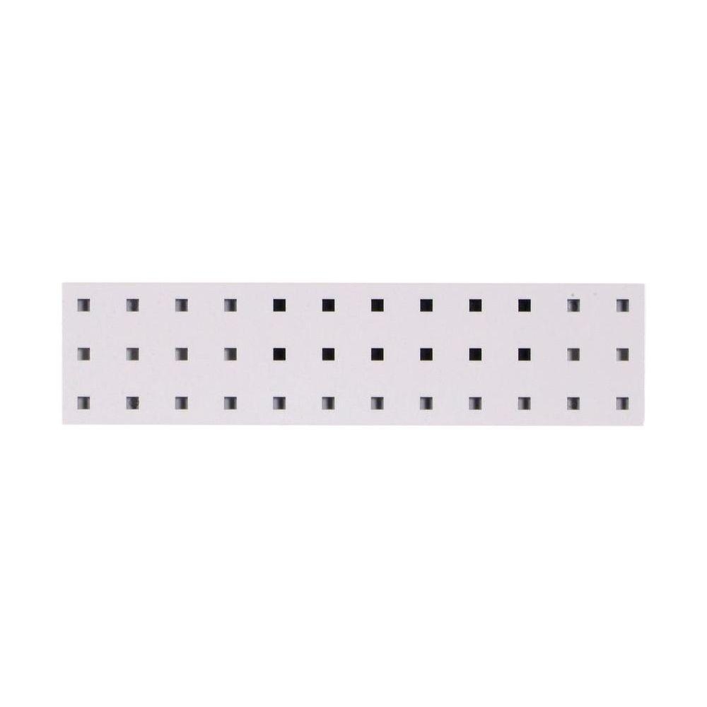 4.5 in. H x 18 in. W White Pegboard Wall Organizer
