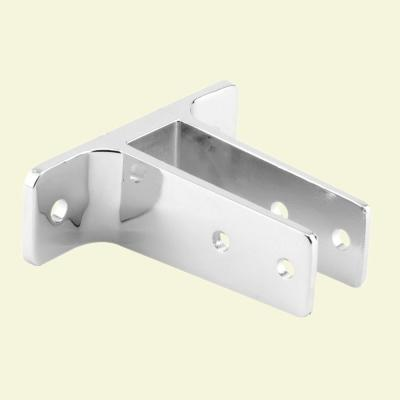 1 in. Panel Chrome Plated Finish Zinc Alloy 2-Ear Urinal Wall Bracket