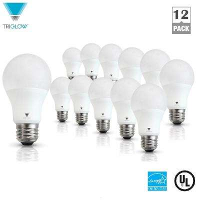 60-Watt Equivalent A19 Dimmable Cool White LED Light Bulb (12-Pack)