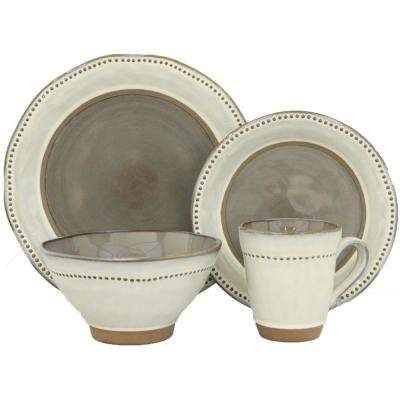 16-Piece Ruvo Gray Dinnerware Set
