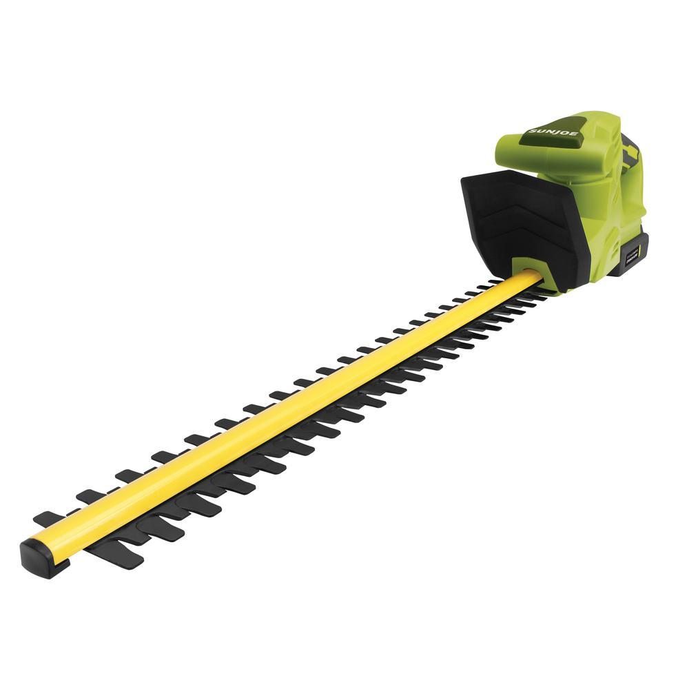 sun joe 2 amp 20 volt cordless electric hedge trimmer. Black Bedroom Furniture Sets. Home Design Ideas