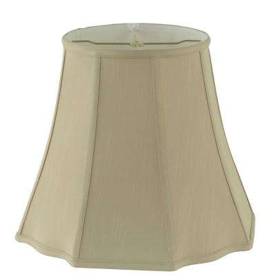 16 in. Dia x 14 in. H Taupe Square Cut Bell Lamp Shade