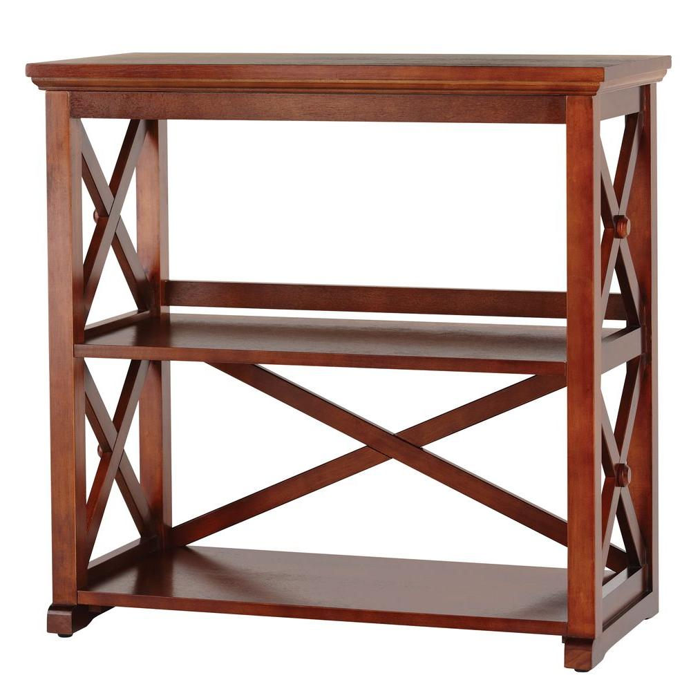 Home Decorators Collection Brexley Chestnut 2-Shelf Bookcase