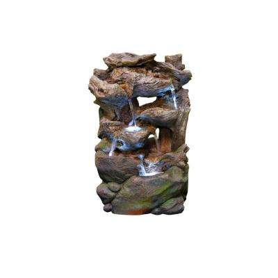 Polyresin Rocky Fountain with LED Light - Small