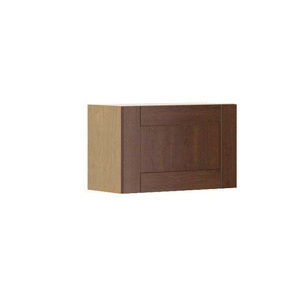 Ready to Assemble 24x15x12.5 in. Lyon Wall Bridge Cabinet in Maple