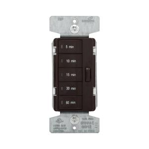 Eaton 1800-Watt 15 Amp 5-Button Minute Timer with Off Single-Pole,  Brown-PT18M-B - The Home Depot