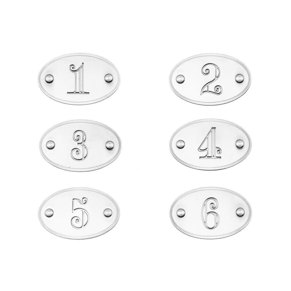 1-3/4 in. Satin Nickel Drawer Number