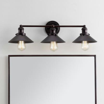 July 26.5 in. 3-Light Metal Oil Rubbed Bronze Vanity Light