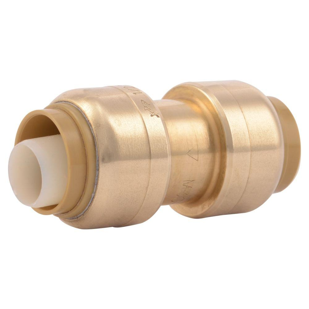 Push To Connect Fittings >> Sharkbite 1 2 In Push To Connect Brass Coupling Fitting