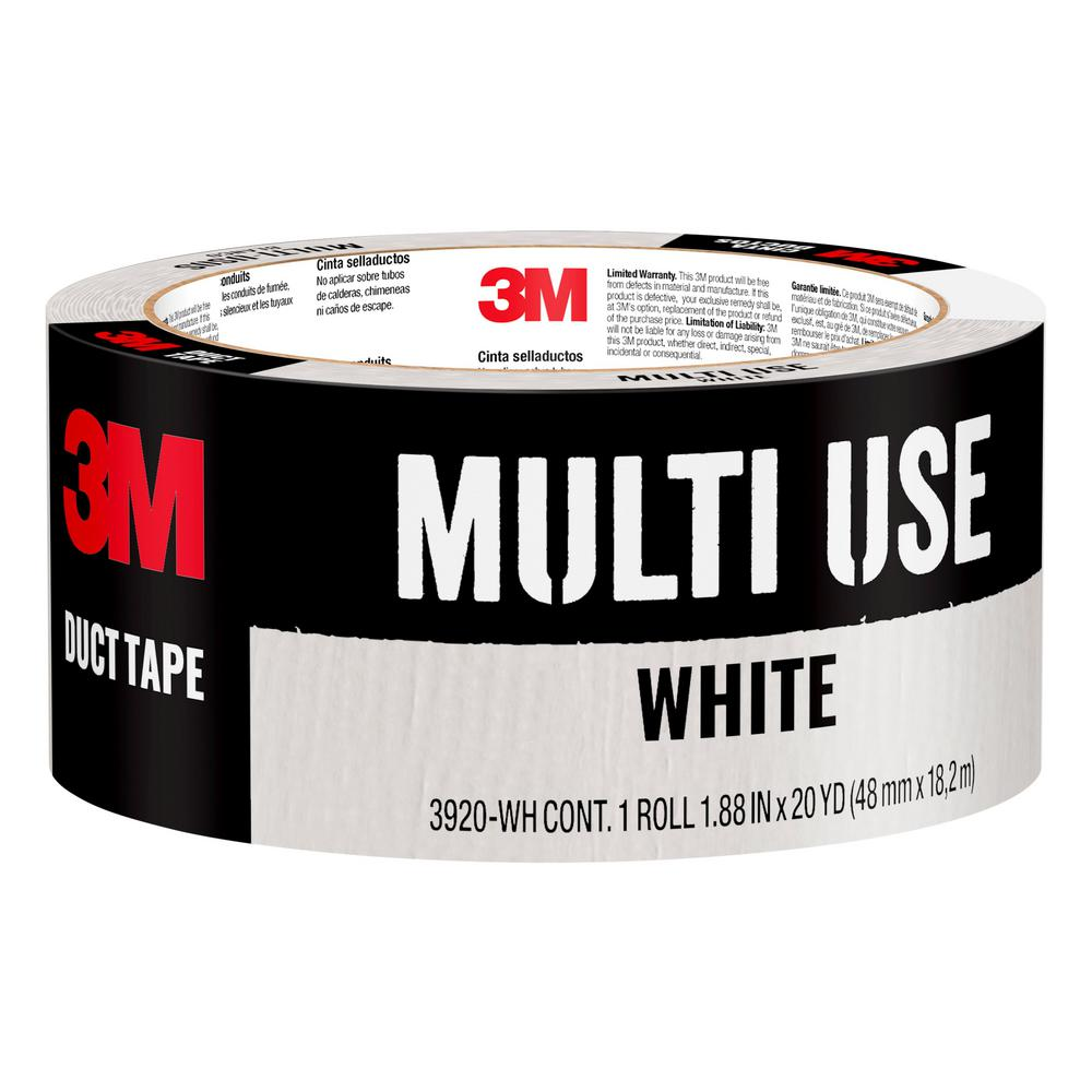 3M 1.88 in. x 20 yds. White Duct Tape
