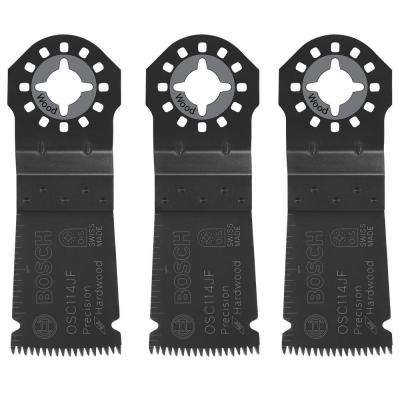 1-1/4 in. Bi-Metal Precision Japanese Tooth Oscillating Tool Blade for Cutting Hard Wood (3-Pack)