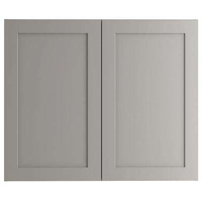 Cambridge Assembled 36x30 x12 in. Wall Cabinet in Gray