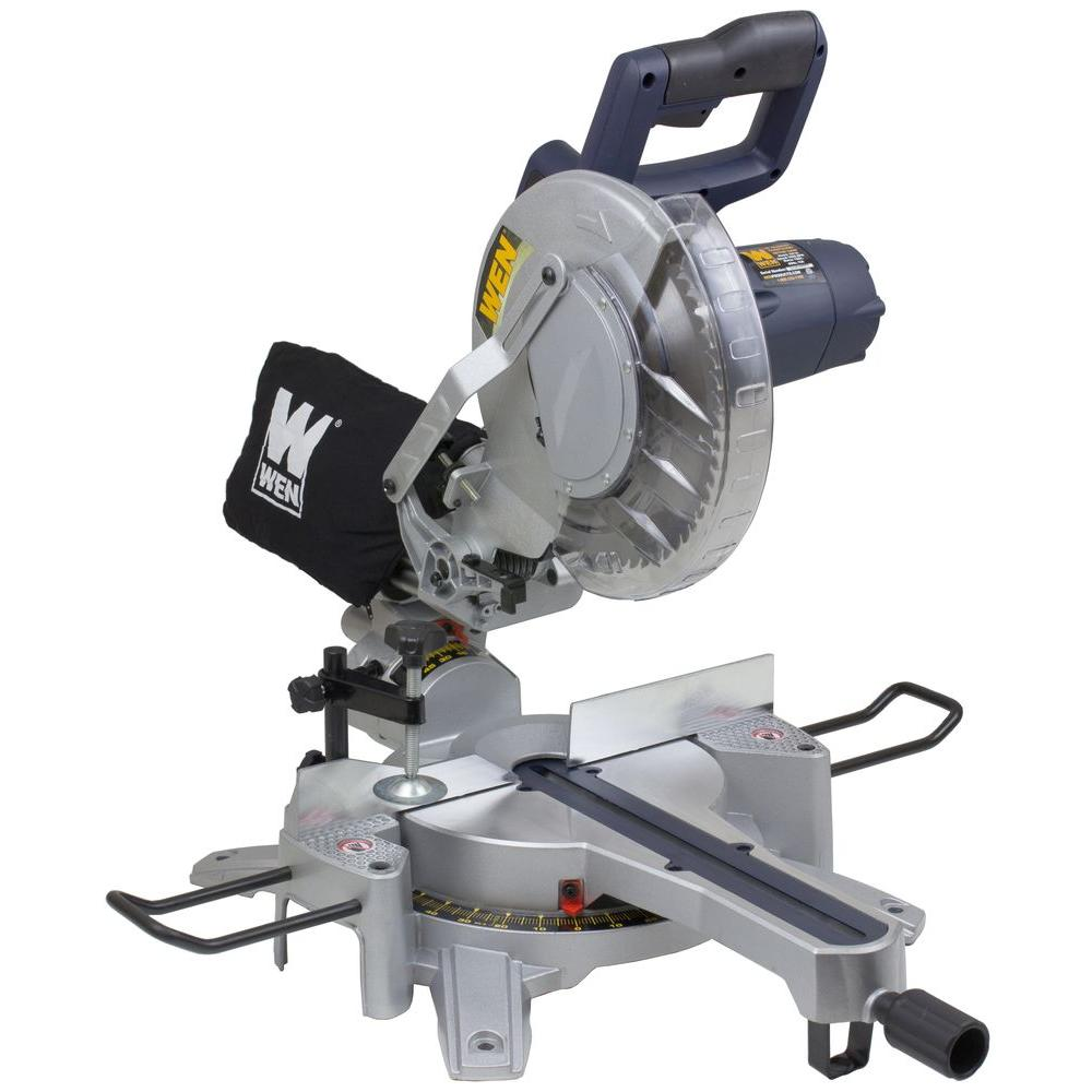 Wen 15 amp 10 in sliding compound miter saw 70716 the home depot sliding compound miter saw greentooth Image collections