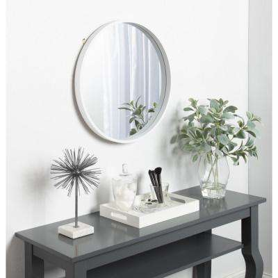 Travis Round White Mirror
