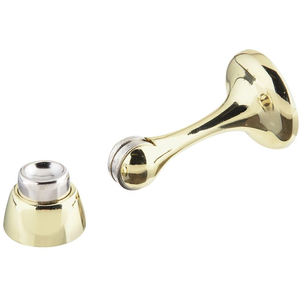 Stanley National Hardware Residential Bright Brass Magnetic Door Stop