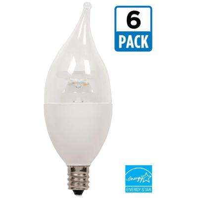 40W Equivalent Warm White CA11 Dimmable LED Light Bulb (6-Pack)