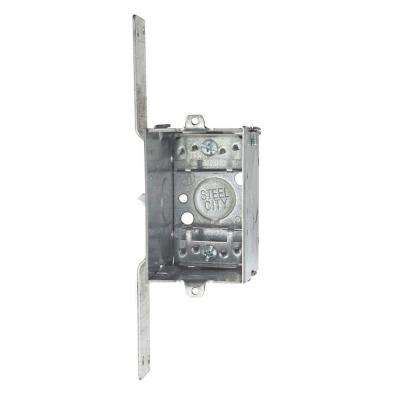 3 in. 2-1/2 in. Deep Metal Switch and Outlet Box with CV Bracket