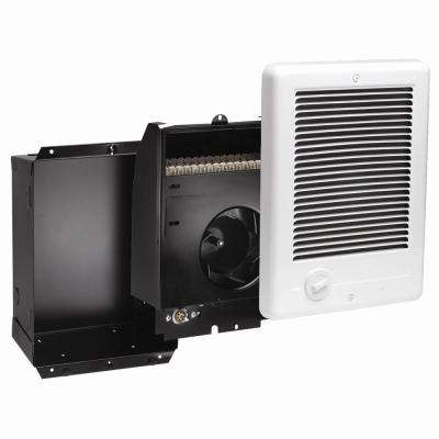 Com-Pak Plus 9 in. x 12 in. 1500-Watt 120-Volt Fan-Forced In-Wall Electric Heater in White
