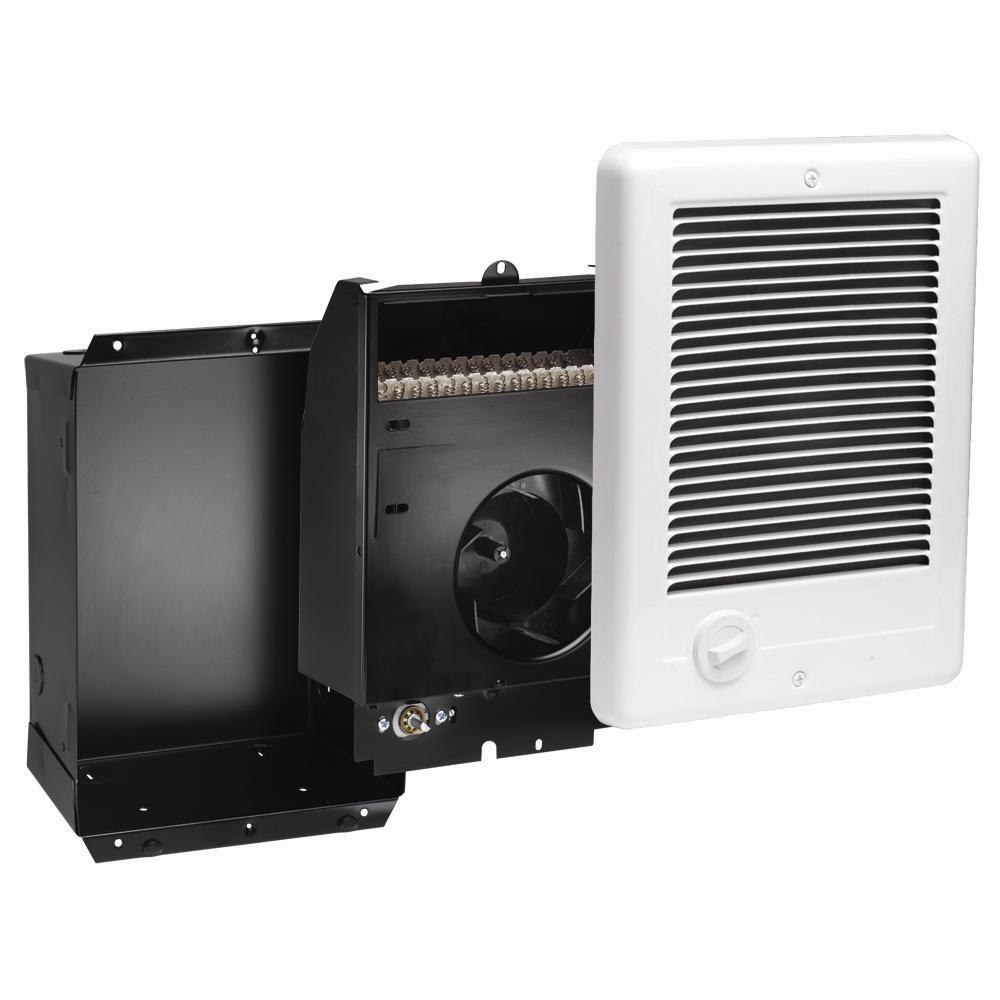 Com-Pak 2,000-Watt 240-Volt Fan-Forced In-Wall Electric Heater in White