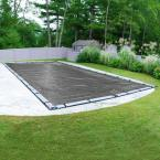 Professional-Grade 16 ft. x 32 ft. Rectangular Charcoal Winter Pool Cover