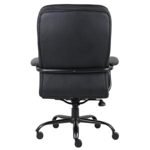 Boss Black Heavy Duty Double Plush ChairBCP The Home Depot - Heavy duty office chairs
