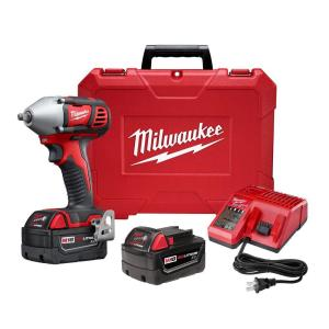 Click here to buy Milwaukee M18 18-Volt Lithium-Ion Cordless 3/8 inch Impact Wrench W/ Friction Ring Kit W/(2) 3.0Ah Batteries, Charger,... by Milwaukee.