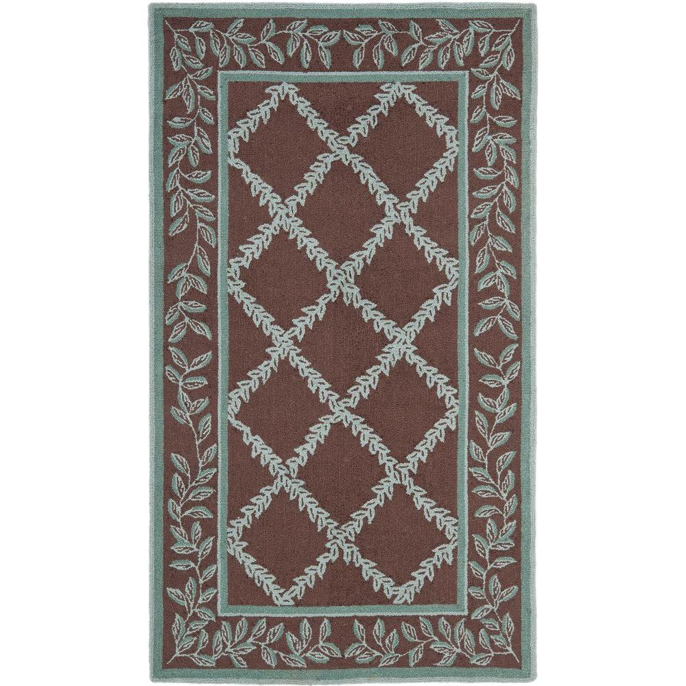 Safavieh Chelsea Brown/Blue 3 Ft. X 4 Ft. Area Rug