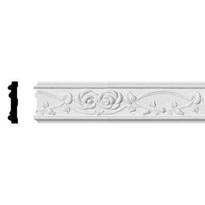 3/4 in. x 3-1/4 in. x 94-1/2 in. Polyurethane Rose Chair Rail Moulding
