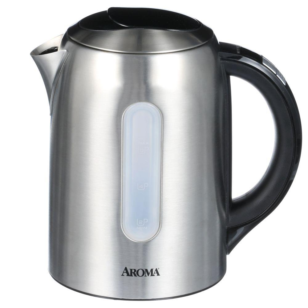 AROMA 6-Cup Digital Cordless Electric Water Kettle in Stainless Steel
