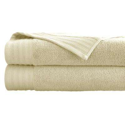 Oversized Quick Dry Bath Sheets in Ivory (2-Pack)